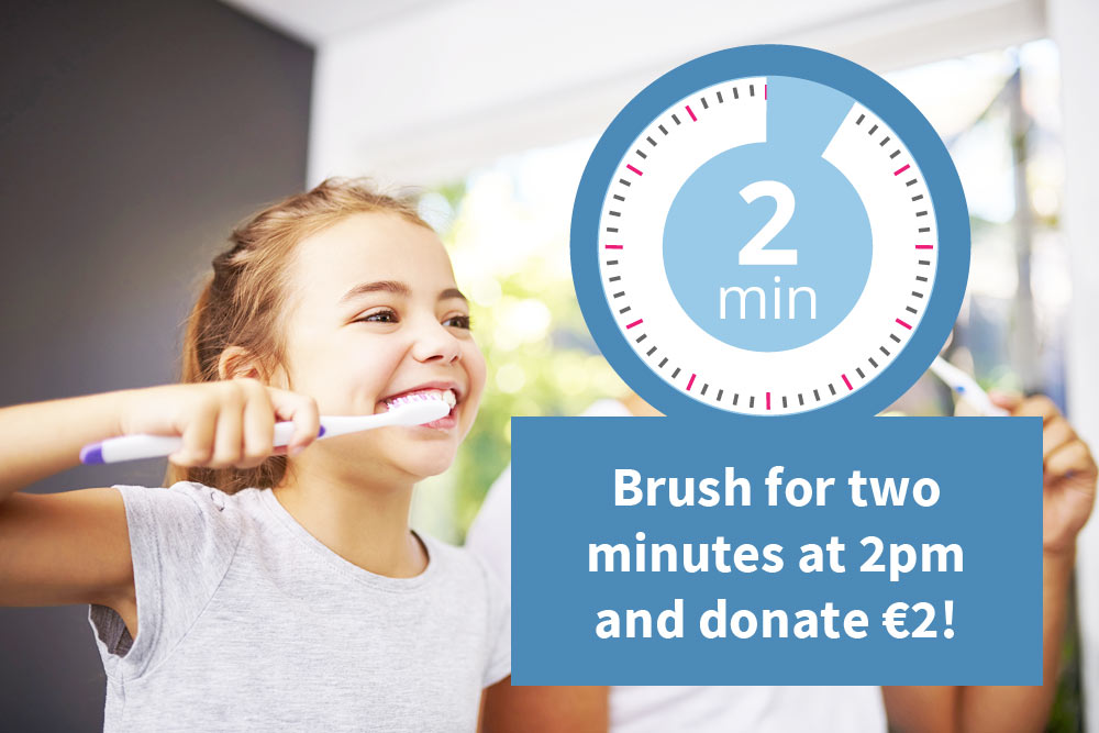 Charity Brushathon 2019 - Brush for two minutes at 2pm and donate €2!
